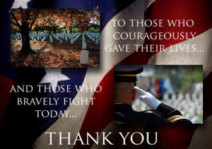 Thank you to all in our Military