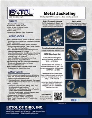 Metal Jacketing Flyer with Submittal Area