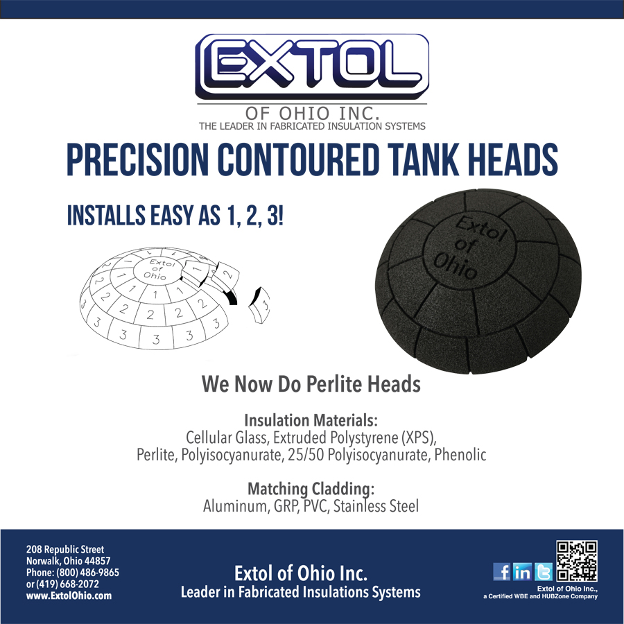 Extol Heads in Perlite, Cellular Glass, Extruded Polystrene (XPS), Polyisocyanurate and Phenolic Insulation Materials